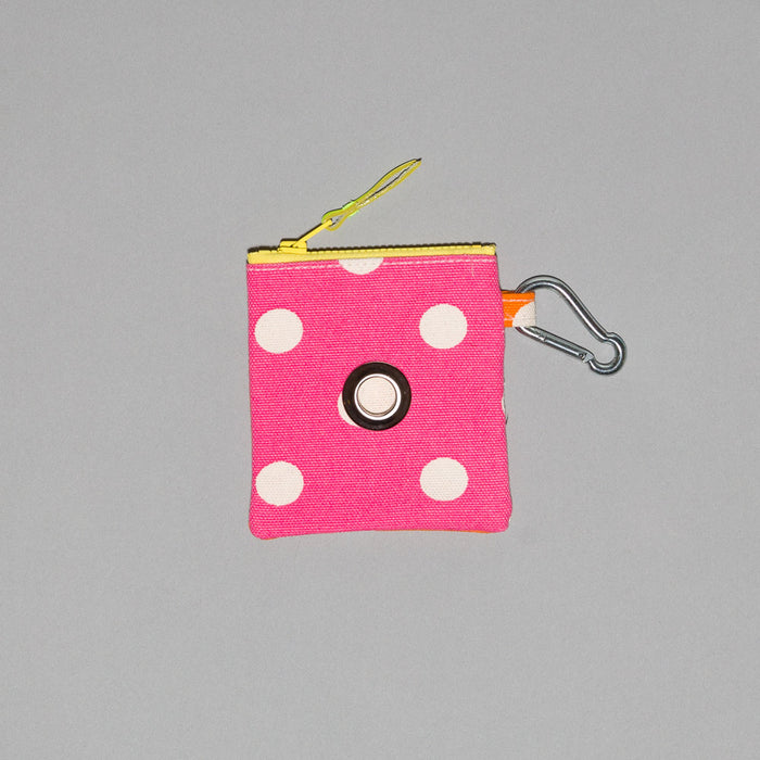 WARE of the DOG I Polka Dot Canvas Pouch in Pink/Orange
