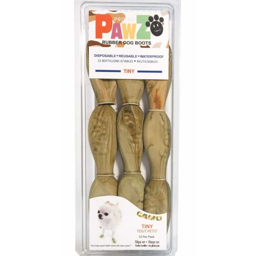 Natural Rubber Dog Boots in Camo
