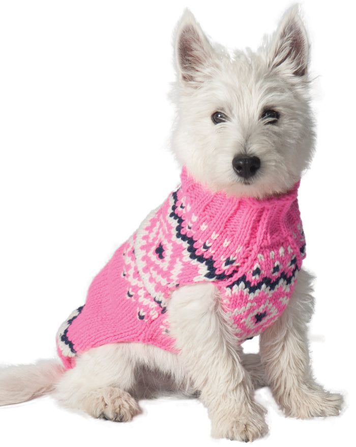 CHILLY DOG | Pink Nordic Wool Sweater