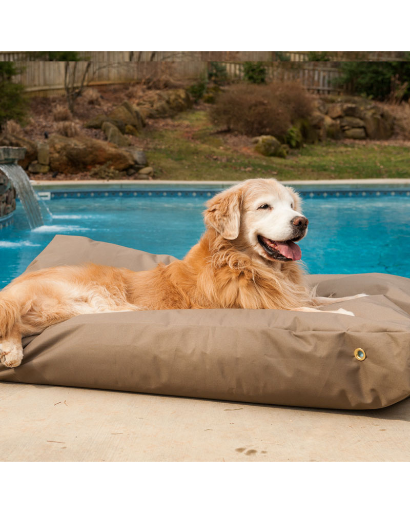 Waterproof Dog Bed in Gunmetal (Made in the USA) (Direct-Ship)