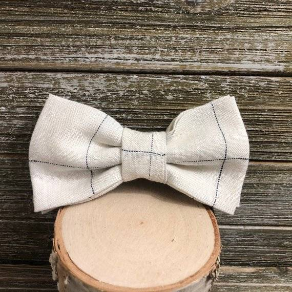 REX & BANDON | Bow Tie in Classic Linen