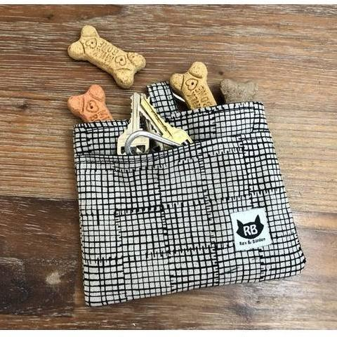 REX & BANDON | Dog Treat Bag in Mini Grid