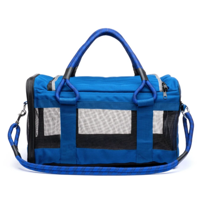 ROVERLUND | Out Of Office Dog Carrier in Blue