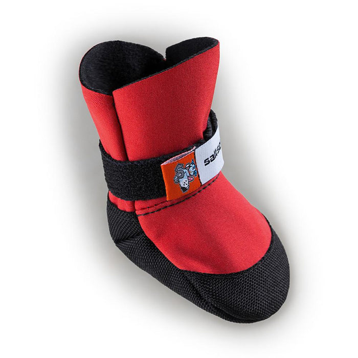 SALTSOX | Booties in Ice Fire Red