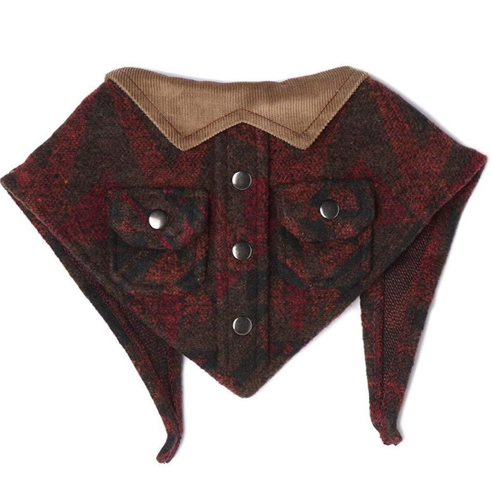 TAIL TRENDS | Lumberjack Bandana with Tan Collar