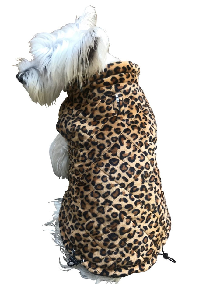 THE DOG SQUAD | Leopard Quilted Puffer