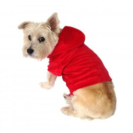 THE DOG SQUAD | Red Velour Hoodie