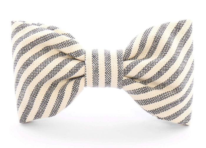 THE FOGGY DOG | Charcoal Stripe Bow Tie