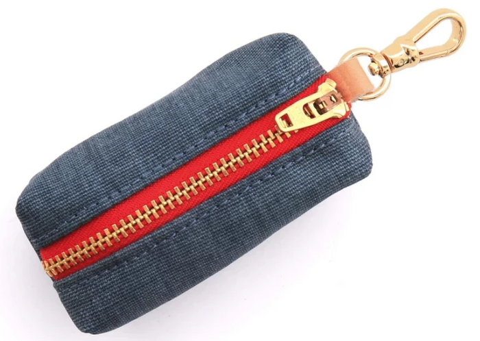THE FOGGY DOG | Dark Denim Leash Bag