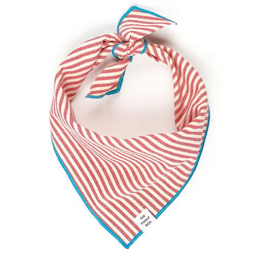Red Stripe Dog Bandana