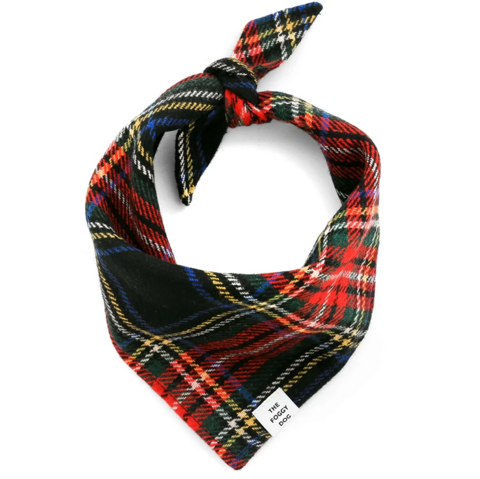 THE FOGGY DOG | Stewart Plaid Wool Bandana