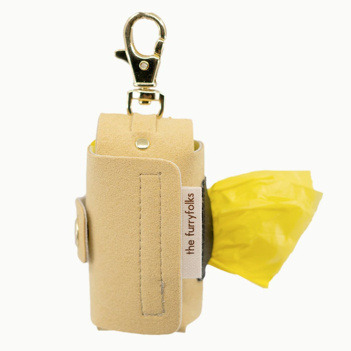 THE FURRYFOLKS | Daily Poop Bag Holder in Cream Yellow