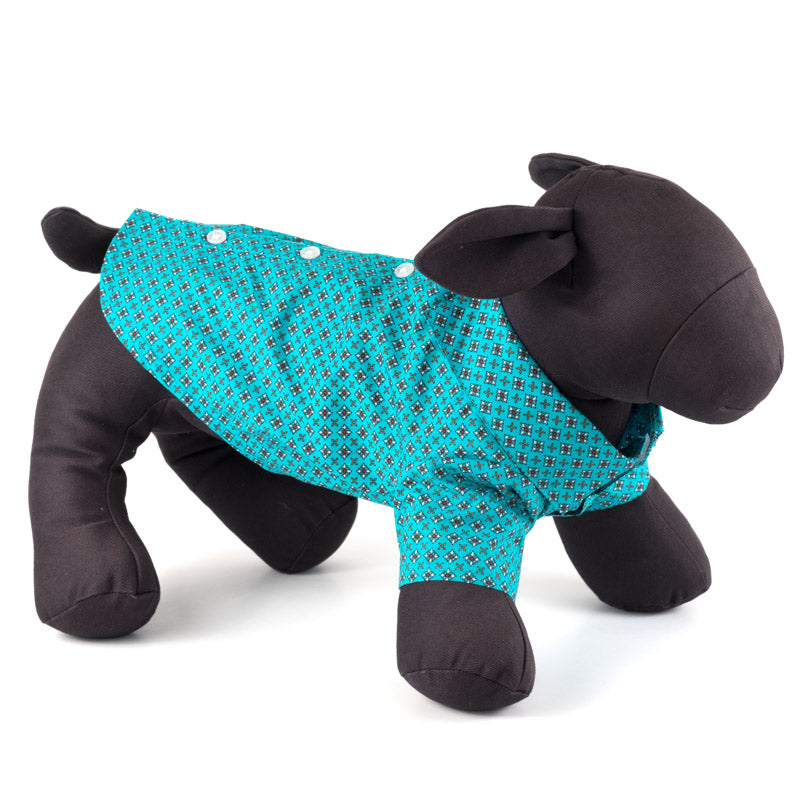 THE WORTHY DOG | Foulard Shirt in Turquoise