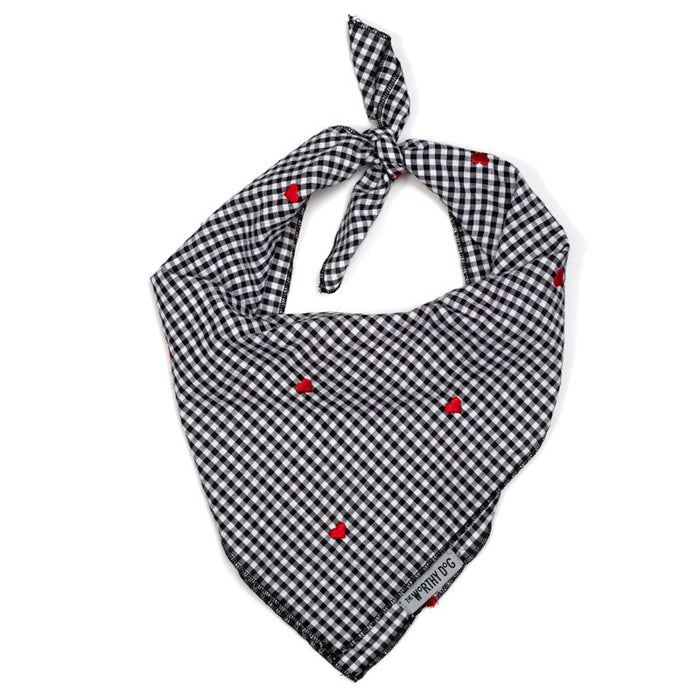 THE WORTHY DOG | Gingham Hearts Bandana