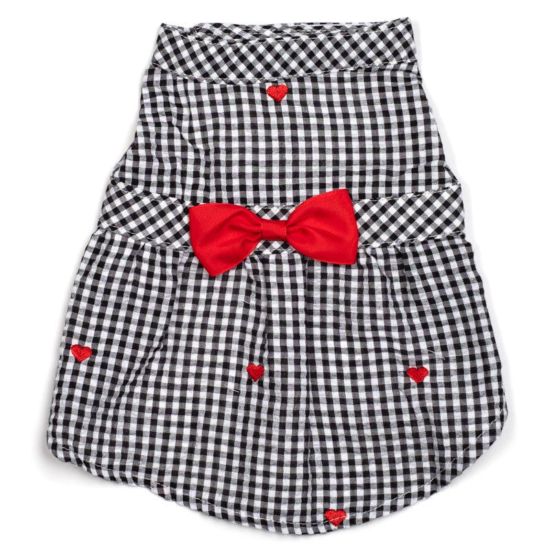THE WORTHY DOG | Gingham Hearts Dress
