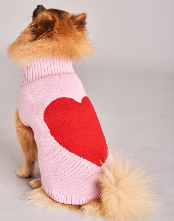 TINY WOLF | Love Heart Dog Sweater