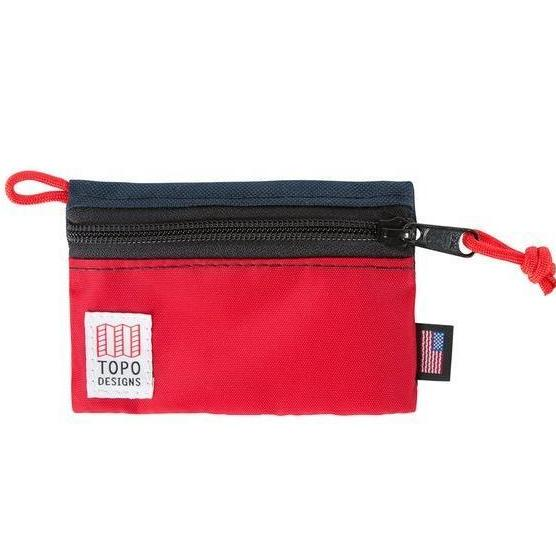 TOPO DESIGNS | Micro Accessory Bag in Red/Navy
