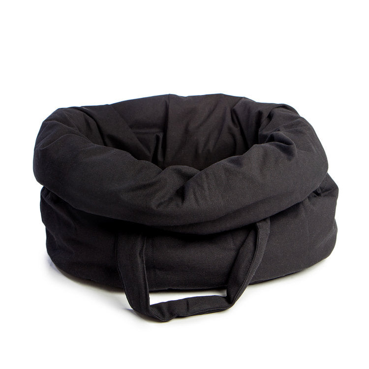 Oval Bed Bag in Black