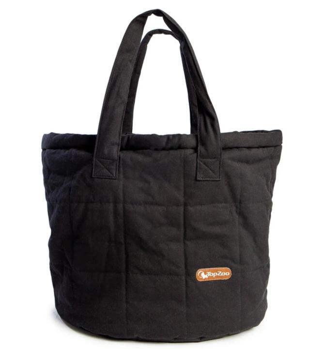TOPZOO | Oval Bed Bag in Black