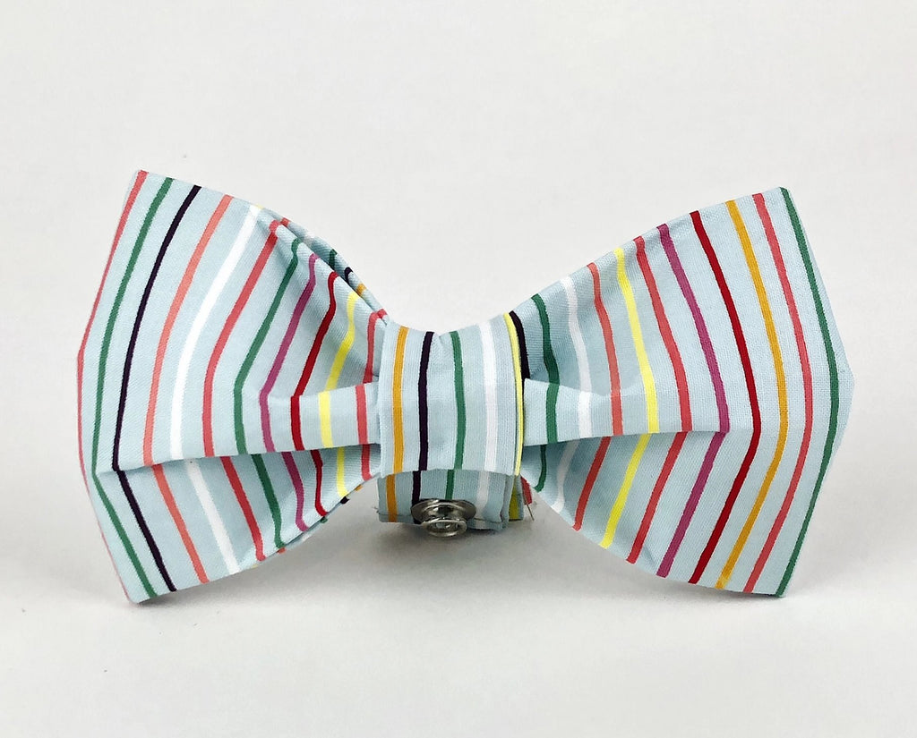 Rainbow Stripe Bow Tie (FINAL SALE)