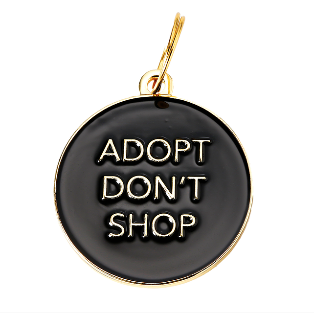 TWO TAILS PET COMPANY | Adopt Don't Shop ID Tag (custom)