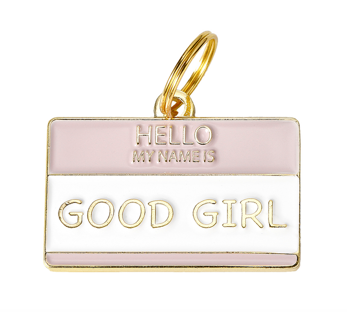 TWO TAILS PET COMPANY | Good Girl ID Tag (custom)