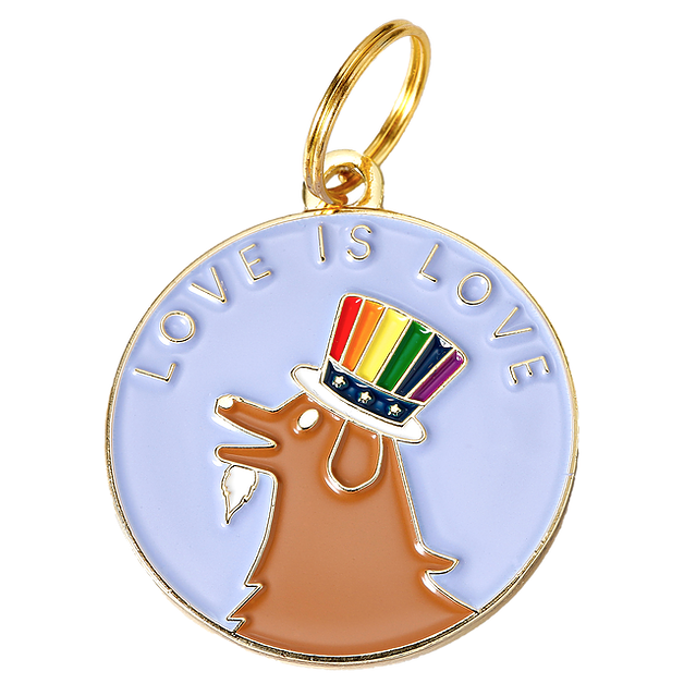 TWO TAILS PET COMPANY | Love is Love ID Tag