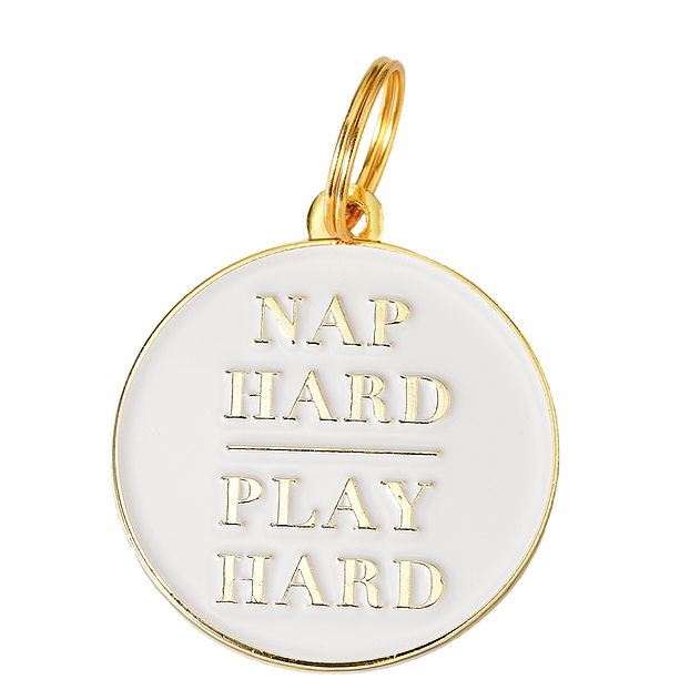 TWO TAILS PET COMPANY | Nap Hard Play Hard ID Tag (custom)