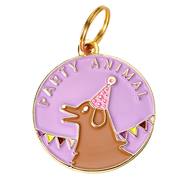TWO TAILS PET COMPANY | Party Animal ID Tag (custom)
