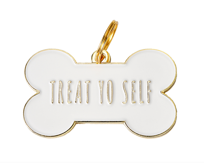 TWO TAILS PET COMPANY | Treat Yo Self ID Tag (custom)