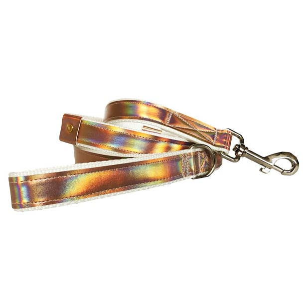 Unicorn Shimmer Vegan Leather Dog Leash (FINAL SALE)