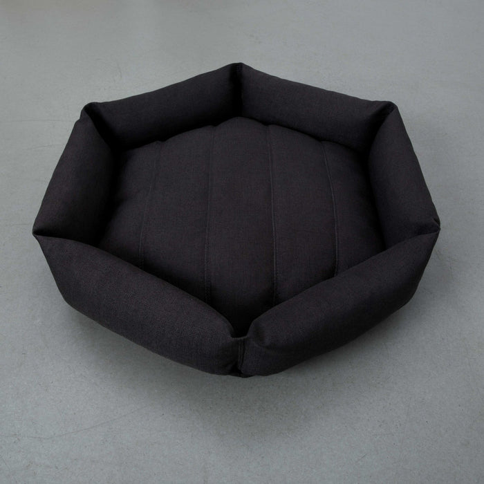 VELVET HIPPO | Hex Cushion in Pewter