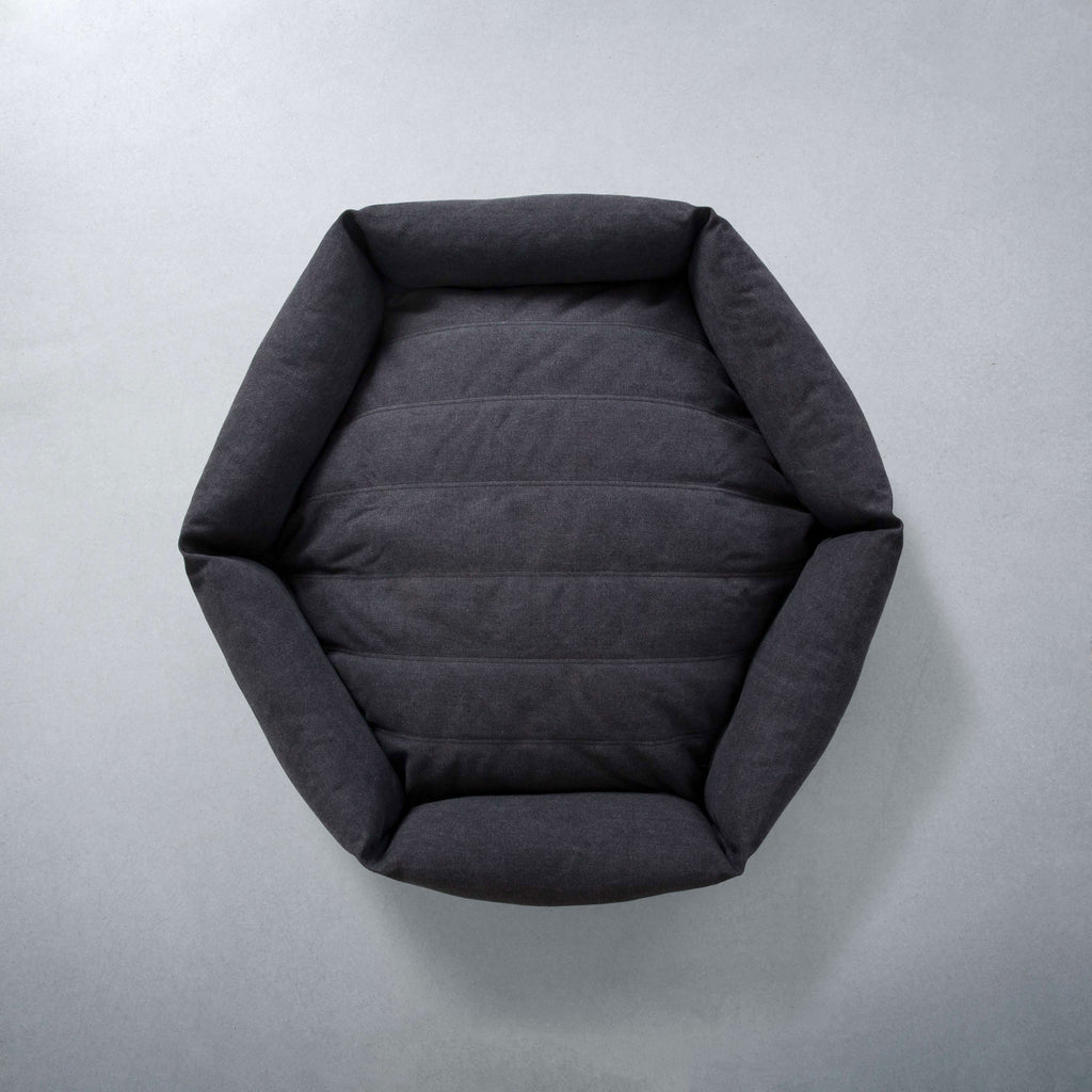 Rugged Canvas Hex Cushion in Shadow (Custom/Drop-Ship)