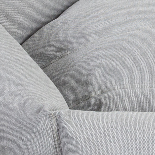 VELVET HIPPO | Rugged Canvas Hex Cushion in Stone