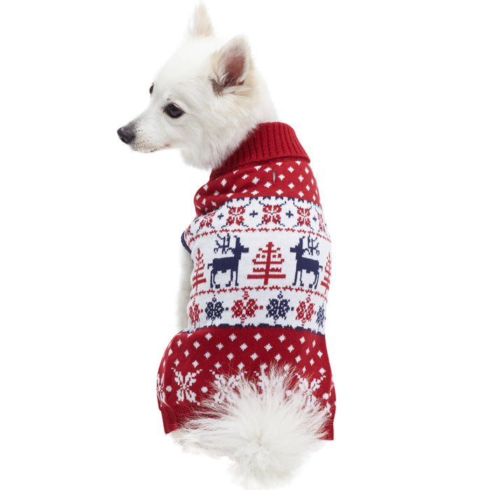 BLUEBERRY PET | Vintage Reindeer Sweater