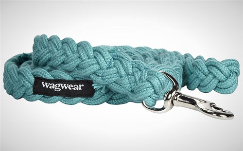 WAGWEAR | Braided Fisherman Leash in Aqua