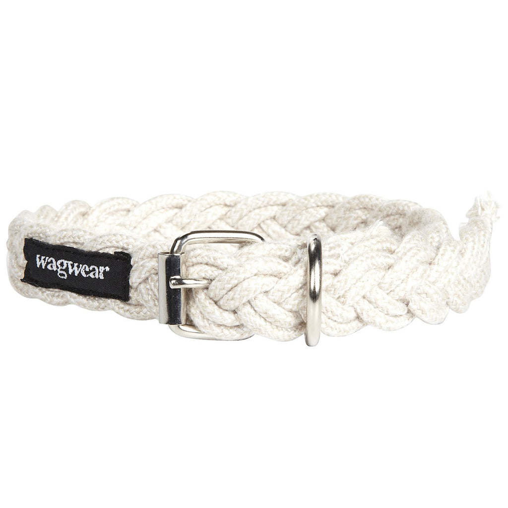 WAGWEAR | Braided Fisherman Collar in White