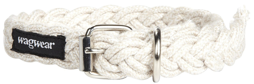 WAGWEAR | Braided Fisherman Leash in White