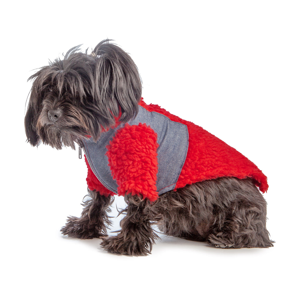 Monkey Fleece in Red and Denim (DOG & CO. Exclusive) (FINAL SALE)