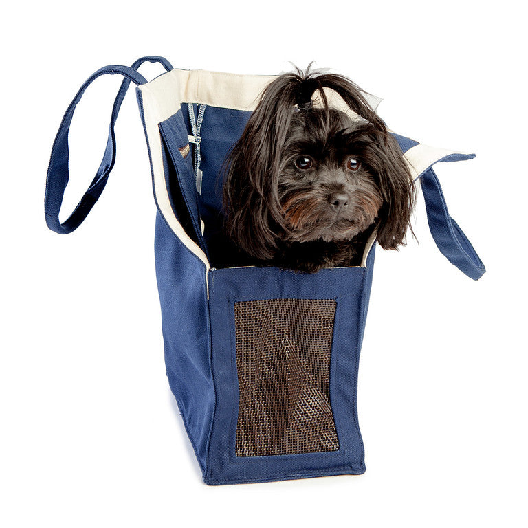 WAGWEAR | Shopping Bag Carrier in Navy Canvas