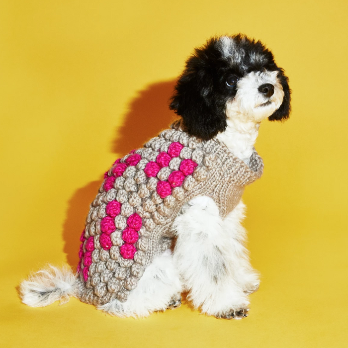 WARE OF THE DOG | Multi Bobble Sweater In Natural/Pink