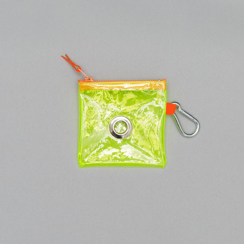 Neon Yellow Vinyl Pouch (Immediate Ship)