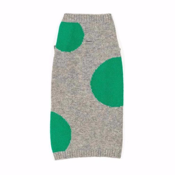 WARE OF THE DOG | Dot Sweater in Grey and Green