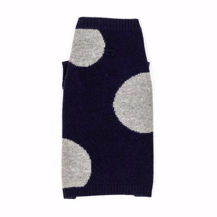 WARE OF THE DOG | Dot Sweater in Navy and Grey