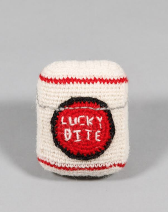Hand Knit Lucky Bite Dog Toy