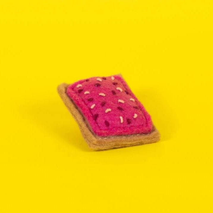 Hand Knit Pop Tart Cat Toy