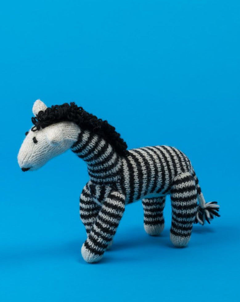 WARE of the DOG | Hand Knit Zebra Toy