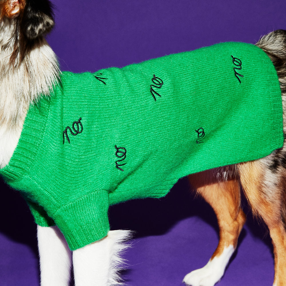 WARE OF THE DOG | No Sweater in Green and Black