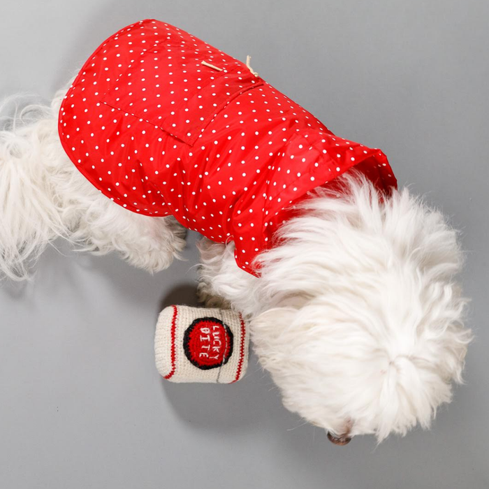 WARE OF THE DOG | Polka Dot Anorak Raincoat in Red