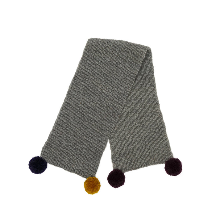 WARE of the DOG | Pom Pom Scarf in Grey